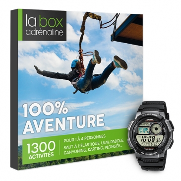 La Box Adrénaline 100% Aventure et montre Casio