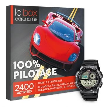 La Box Adrénaline 100% Pilotage et montre Casio