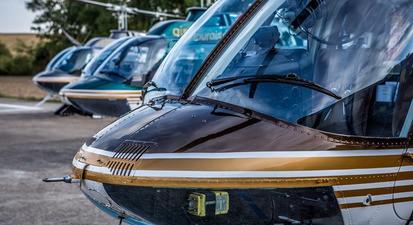 Baptême en hélicoptère près de Tours