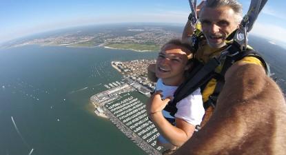 Saut en Parachute Tandem à Arcachon