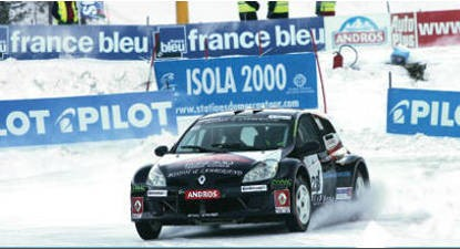 Stage conduite glace Isola 2000