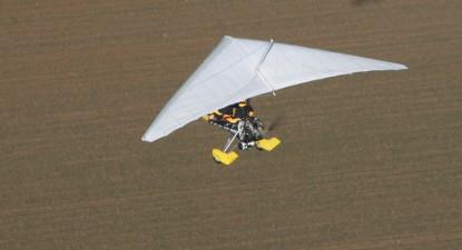 Pilotage d'un ULM pendulaire près de Meaux