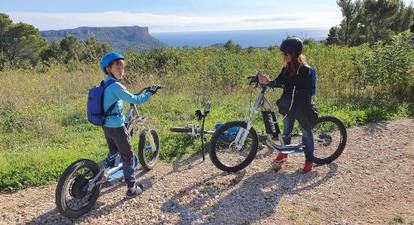 Randonnée en trottinette électrique dans le Parc National des calanques de Marseille Cassis