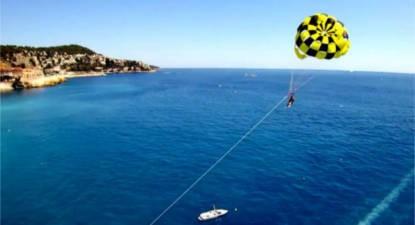 Parachute ascensionnel à Nice