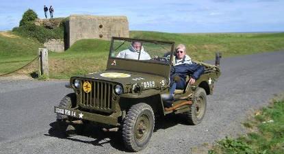 Balade en Jeep sur les Plages du Débarquement
