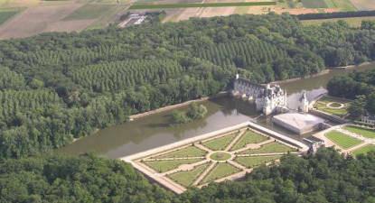 Baptême en ULM au dessus du Château de Chenonceau
