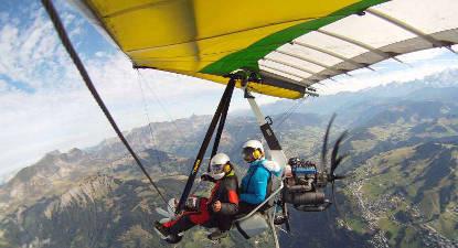 Vol en ULM au dessus du Lac d'Annecy