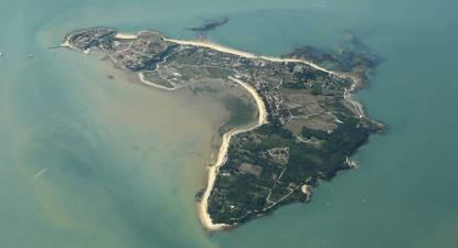 Pilotage d'un ULM au dessus de l'île d'Oléron