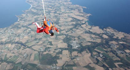 Saut en Parachute Tandem à Belle-Île-en-Mer