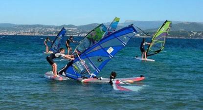 Cours découverte de Windsurf près de Toulon