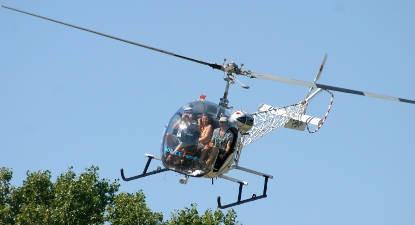 Vol en Hélicoptère au dessus de la Camargue