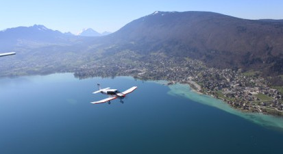 Baptême de l'Air en Avion à Annecy et vol au dessus du Lac d'Annecy