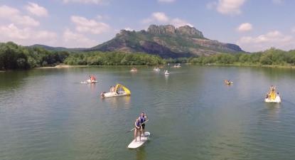 Balade en Paddle ou en pédalo sur le lac de l'Aréna