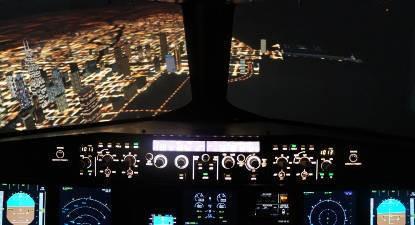 Pilotage sur simulateur d'avion Airbus A330 à Paris