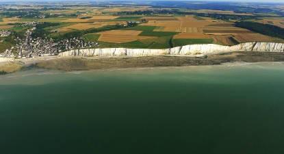 Baptême de l'air en ULM en Normandie au dessus des Falaises d'Etretat