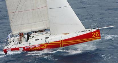 Croisière en voilier Class 40 près de Cherbourg