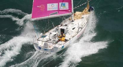 Course en voilier Class 40 près de Cherbourg