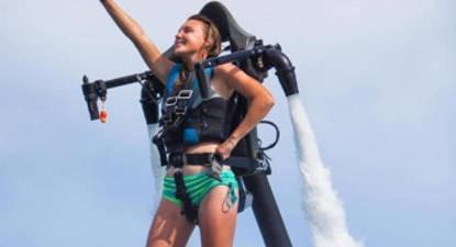 Initiation au Jet Pack à la Pointe du Médoc