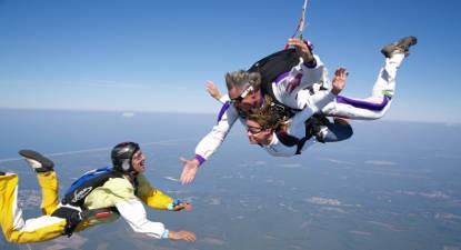 Saut en Parachute Tandem près de Biscarrosse