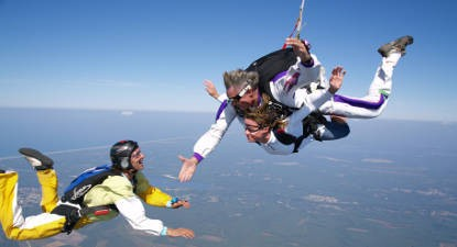 saut en parachute hossegor
