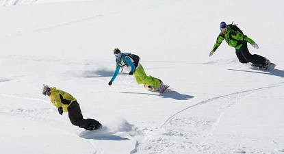 Cours collectif snowboard à Oz-Vaujany