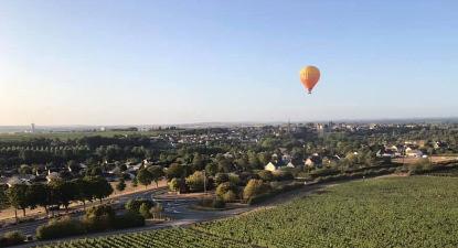 Vol en montgolfière au-dessus du Beaujolais