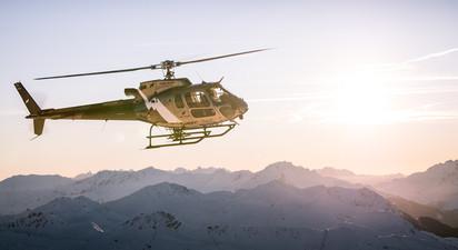 Baptême de l'Air en Hélicoptère depuis Megève - Vol au dessus du Massif du Mont Blanc