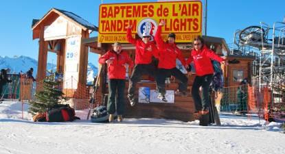 Baptême et pilotage en Parapente à ski - Vol à l'Alpe d'Huez