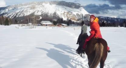 Balade à cheval près de Chambéry