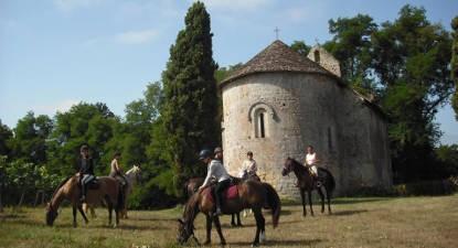 Balade à cheval à Cravencères
