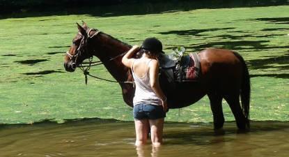Balade à cheval près de Cahors
