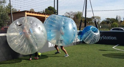 Partie de Bubble Bump à Montpellier