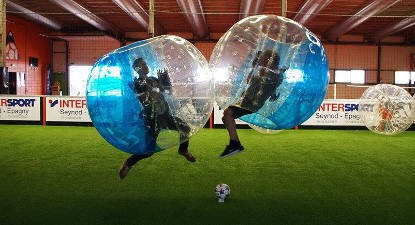 Partie de Bubble Bump à Montpellier