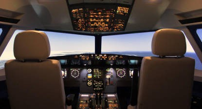 Simulateur d'avion Airbus A320 près de Nice