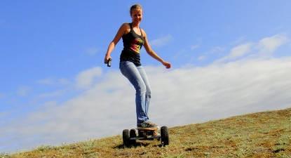 Skate électrique à Soulac-sur-Mer