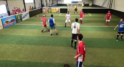 Séance de foot en salle à Vichy