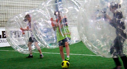 Partie de Bubble bump près de Grenoble