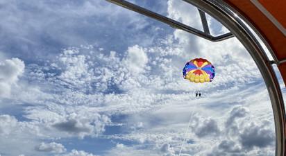 Parachute ascensionnel à Hendaye