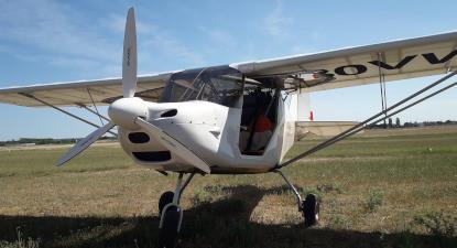 Baptême de l'air en avion Biplan depuis Nîmes et survol du pont du Gard