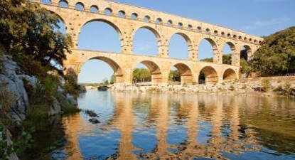Baptême de l'air en ULM Biplan à Nîmes - Survol du pont du Gard