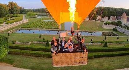 Vol en montgolfière à Gerberoy en Picardie
