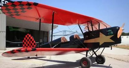 Baptême de l'air en avion biplan près de Nancy