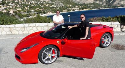Baptême en Ferrari F458 ou Lamborghini Gallardo 560 près de Nice