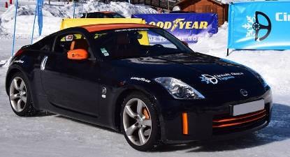 Stage de pilotage sur glace en Nissan et Subaru STI à Tignes