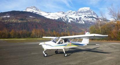 Baptême en ULM au dessus des Massifs des Alpes et de Savoie
