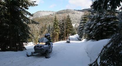 Circuit en motoneige dans les Vosges