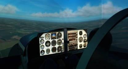 Simulateur de pilotage en avion au Mans