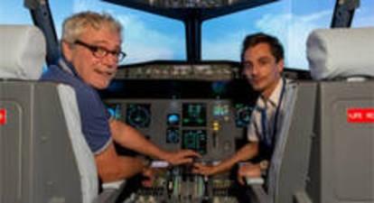Simulateur de vol en avion Airbus A320 à Paris