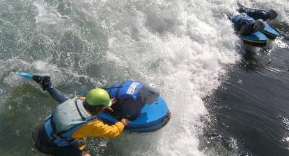 Séance d'hydrospeed dans les Hautes-Pyrénées près de Lourdes
