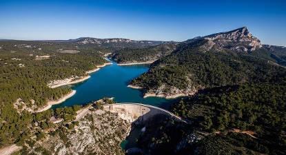 Vol en hélicoptère : Coucher de soleil en Provence